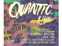 2x Quantic tickets at Electric Brixton on 13th July 2018 for £35 (£17.50 each)