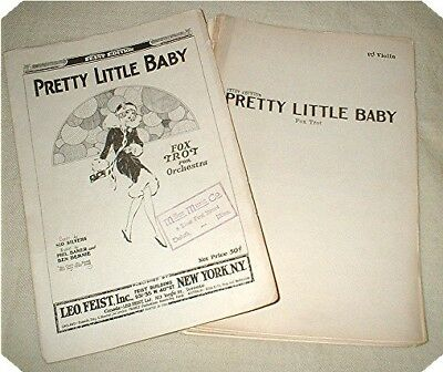 ORCHESTRA PARTS for PRETTY LITTLE BABY Foxtrot by Silvers, Baker & Bernie 1926