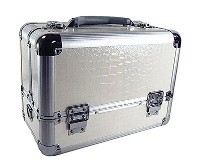 Professional Artist Makeup Train Case Organizer Gift Set  (White)