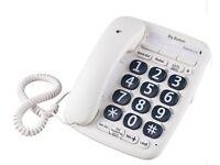 OPTICOM BIG BUTTON CORDED TELEPHONE – WHITE – QTY 2