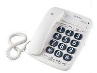 OPTICOM BIG BUTTON CORDED TELEPHONE – WHITE – QTY 2