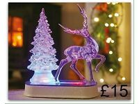 LED Deer With Tree