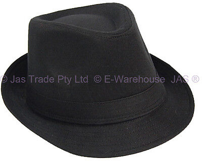 Ganster Hats (L XL FEDORA TRILBY  GANSTER MICHAEL JACKSON WEDDING COSTUME HAT BLACK /)