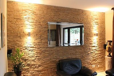 Echte Wandstein Verblender Naturstein, Fliesen 60x15cm, Wandverbender Riemchen