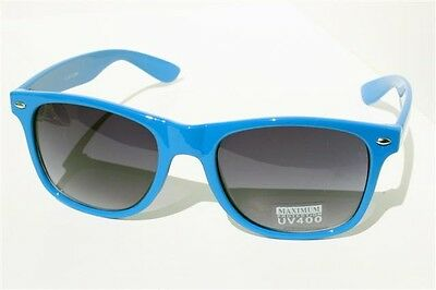 Blue Retro Sunglasses Vintage 80's Smoke Lens Gradient