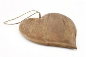 Beautiful Large Wooden Heart Bread Board Serving 36cm Can be hung