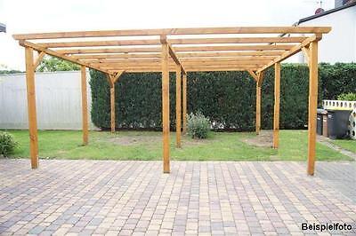 Kieferschnittholz für ein Doppelcarport Flachdach 6x6m NEU