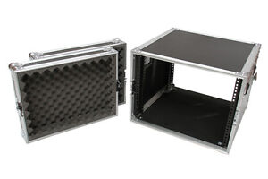 8-Unit-8RU-Rack-Road-Travel-Flight-Case-Sleeve-Flightcase-Dj-Roadcase-AIRC-B8U