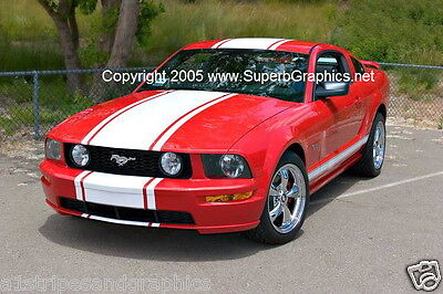 "05 06 07 08 09 Mustang 22"" Wide Center Rally Stripe Stripes Decal Decals Graphic"