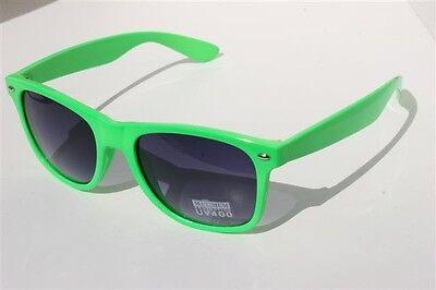 NEW Neon Green Sunglasses Vintage retro 80's black gradient lens](Neon Green Sunglasses)