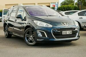 2013 Peugeot 308 T7 MY13 Sportium Touring Blue 6 Speed Sports Automatic Wagon Chinderah Tweed Heads Area Preview