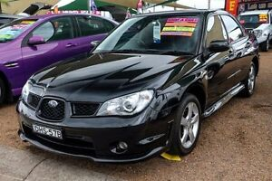2006 Subaru Impreza S MY06 R AWD Black 5 Speed Manual Sedan Minchinbury Blacktown Area Preview