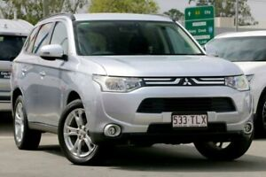 2013 Mitsubishi Outlander ZJ MY13 LS 4WD Cool Silver 6 Speed Constant Variable Wagon Aspley Brisbane North East Preview