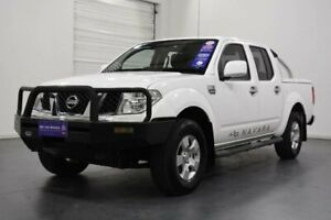 2011 Nissan Navara D40 RX (4x4) White 5 Speed Automatic King Cab Chassis