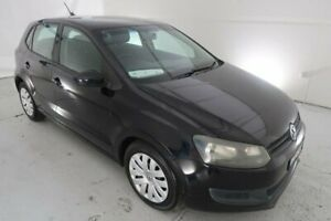2012 Volkswagen Polo 6R MY12.5 Trendline Black 5 Speed Manual Hatchback Hamilton North Newcastle Area Preview