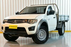 2012 Mitsubishi Triton MN MY12 GLX White 5 Speed Manual Cab Chassis Hendra Brisbane North East Preview