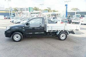 2011 Toyota Hilux TGN16R MY10 Workmate Black 5 Speed Manual Cab Chassis Brookvale Manly Area Preview