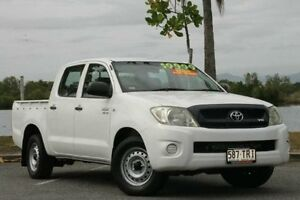 2008 Toyota Hilux GGN15R MY09 SR White 5 Speed Automatic Utility Bungalow Cairns City Preview