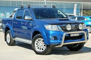 2011 Toyota Hilux GGN25R MY10 SR5 Blue 5 Speed Automatic Utility Castle Hill The Hills District Preview