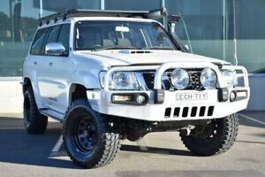 2011 Nissan Patrol GU 7 MY10 ST White 4 Speed Automatic Wagon Cardiff Lake Macquarie Area Preview
