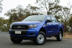 2016 Ford Ranger PX MkII XL Double Cab 4x2 Hi-Rider Blue 6 Speed Manual Utility