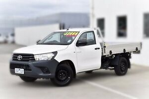 2015 Toyota Hilux TGN121R Workmate White 5 Speed Manual Cab Chassis Pakenham Cardinia Area Preview