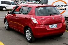 2013 Suzuki Swift FZ MY13 GL Red 5 Speed Manual Hatchback Ringwood East Maroondah Area Preview