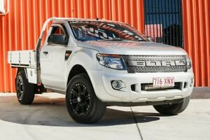 2013 Ford Ranger PX XL 4x2 Hi-Rider Silver 6 Speed Manual Cab Chassis Molendinar Gold Coast City Preview