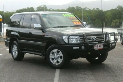 2006 Toyota Landcruiser HDJ100R Sahara Black 5 Speed Automatic Wagon Portsmith Cairns City Preview