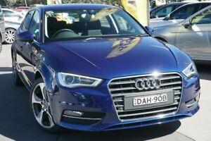 2015 Audi A3 8V MY15 Ambition Sportback S Tronic Blue 7 Speed Sports Automatic Dual Clutch Hatchback