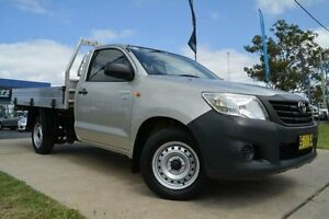 2012 Toyota Hilux TGN16R MY12 Workmate Silver 5 Speed Manual Cab Chassis Mulgrave Hawkesbury Area Preview