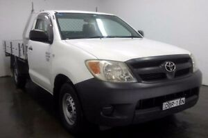 2008 Toyota Hilux TGN16R Workmate White Manual Cab Chassis Cabramatta Fairfield Area Preview