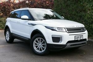 2017 Land Rover Range Rover Evoque L538 MY17 TD4 150 Pure White 9 Speed Sports Automatic Wagon Parkside Unley Area Preview