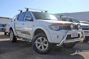 2014 Mitsubishi Triton MN MY15 GLX-R Double Cab White 5 Speed Manual Utility Rockingham Rockingham Area Preview