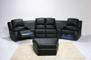 """Black Friday Sale!! Starts Now """"Brand New Home Theatre Sectional 4 Recliners & Cup-Holders With Storage $1499"""