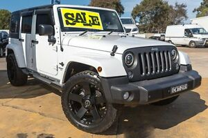 2014 Jeep Wrangler JK MY2015 White 5 Speed Automatic Softtop Greenacre Bankstown Area Preview