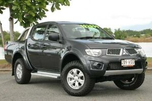 2011 Mitsubishi Triton MN MY12 GL-R Double Cab Grey 5 Speed Manual Utility Bungalow Cairns City Preview