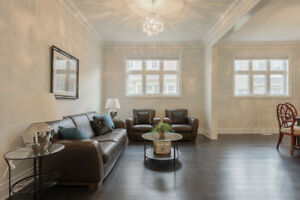 Leather couches set by Natuzzi Furniture