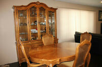 Dining Room table & 6 chairs with china cabinet Leduc