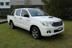 2012 Toyota Hilux KUN16R MY12 SR Double Cab 4x2 White 5 Speed Manual Utility Ormeau Gold Coast North Preview