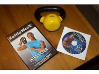 2kg KettleWorX Kettlebell & Introduction DVD plus Fat Free in 42 days DVD