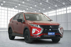 2018 Mitsubishi Eclipse Cross YA MY19 Black Edition 2WD Red 8 Speed Constant Variable Wagon Victoria Park Victoria Park Area Preview