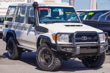 2017 Toyota Landcruiser VDJ76R Workmate French Vanilla 5 Speed Manual Wagon Glendalough Stirling Area Preview