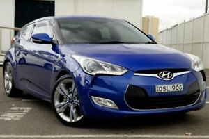 2012 Hyundai Veloster FS + Coupe D-CT Blue 6 Speed Sports Automatic Dual Clutch Hatchback Gosford Gosford Area Preview