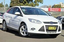 2013 Ford Focus LW MKII Trend PwrShift White 6 Speed Sports Automatic Dual Clutch Sedan Blacktown Blacktown Area Preview