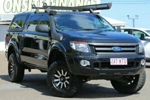 2014 Ford Ranger PX XLS Double Cab Black 6 Speed Manual Utility Moorooka Brisbane South West Preview