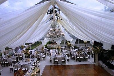 Ceiling Draping Sheer Chiffon Voile Drape Panel Backdrop Wall Divider Wedding