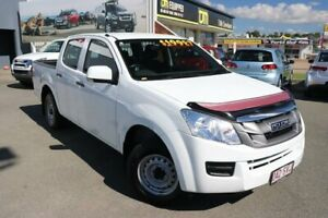 2012 Isuzu D-MAX MY12 SX Crew Cab 4x2 White 5 Speed Manual Utility