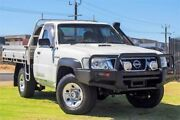 2008 Nissan Patrol GU 6 MY08 DX White 5 Speed Manual Cab Chassis Wangara Wanneroo Area Preview