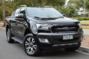 2016 Ford Ranger PX MkII Wildtrak Double Cab Black 6 Speed Sports Automatic Utility St Marys Mitcham Area Preview